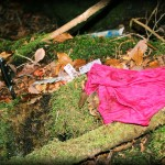 suicide forst cloths and remains